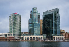 Waterfront of Federal Hill Baltimore, Maryland during Winter.  royalty free stock photography