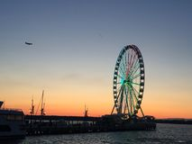 National Harbor, MD. Waterfront ferris wheel Stock Photos