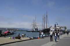 Waterfront Fisherman's Wharf Royalty Free Stock Image