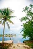 Waterfront - Florida Keys. A beautiful view of waterfront homes in Key Largo, FL stock image