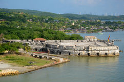 Cartagena Waterfront Fortress Stock Photography
