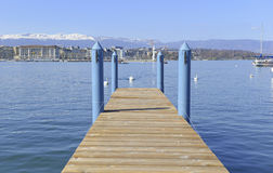 Waterfront in Geneva Switzerland Royalty Free Stock Photography