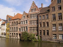 Waterfront in Ghent Stock Photography