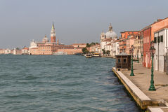 Waterfront at Giudecca island in Venice Royalty Free Stock Image