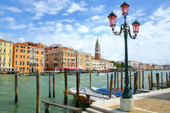 Waterfront of Grand Canal in Venice, Italy Stock Photography