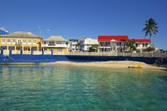 Waterfront in Grand Cayman, Cayman islands, Caribbean Royalty Free Stock Photography