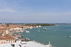Waterfront Gulf of Venice from Campanile Royalty Free Stock Photography