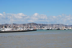 The waterfront harbor and beach of Pescara Royalty Free Stock Image