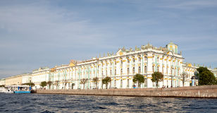 Waterfront Hermitage Museum, St. Petersburg, Russia Royalty Free Stock Images