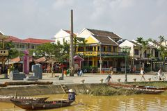 Waterfront in Hoi An, Vietnam on November 2013 Royalty Free Stock Photo