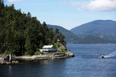 Waterfront Home in Horseshoe Bay Stock Images