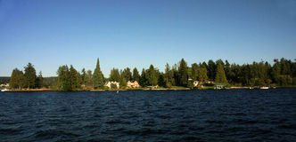 Waterfront home on Lake Washington Royalty Free Stock Photo