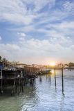 Waterfront Home Stock Photography