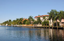 Waterfront homes Royalty Free Stock Photos