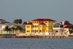 Waterfront homes. On intercoastal waterway royalty free stock photos
