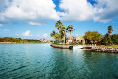 Waterfront homes. On Grand Cayman Stock Images