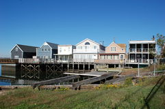 Waterfront Homes in Broad Channel, New York City Stock Photo