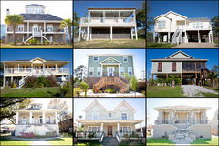 Waterfront Homes Collage Royalty Free Stock Image