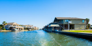 Waterfront homes Royalty Free Stock Images