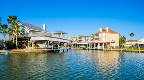 Waterfront homes Stock Photography