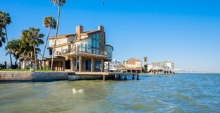 Waterfront homes Royalty Free Stock Photography