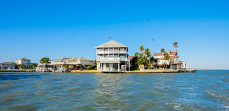 Waterfront homes Stock Images