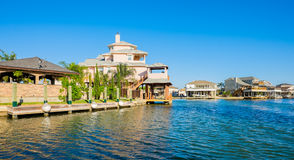 Waterfront homes Stock Image
