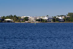 Waterfront homes in Florida Stock Photos