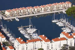 Waterfront homes Gibraltar Royalty Free Stock Photography