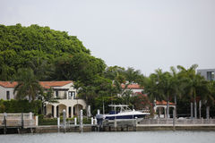 Waterfront homes in Miami Beach Stock Images