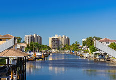 Waterfront homes in Naples, Florida Stock Photos