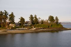 Waterfront Homes near Seattle Royalty Free Stock Image