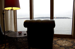 Waterfront hotel lobby Royalty Free Stock Photography