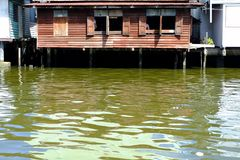 Waterfront House in Bangkok Thailand. Close up Waterfront House in Bangkok Thailand Royalty Free Stock Photography