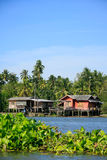 Waterfront House In Thai Style, Thailand Royalty Free Stock Photo