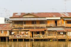 WATERFRONT HOUSE IN THAI STYLE AT THAILAND Stock Images