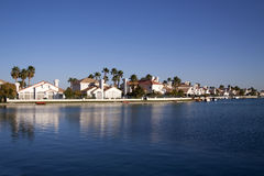 Waterfront houses Royalty Free Stock Photos