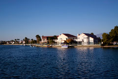 Waterfront houses Royalty Free Stock Image