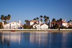 Waterfront houses Stock Image