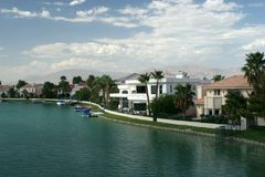 Waterfront houses Royalty Free Stock Photography