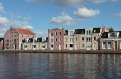 Waterfront houses Royalty Free Stock Photo