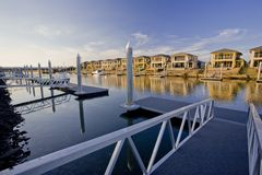 Waterfront houses on the canal Stock Photography