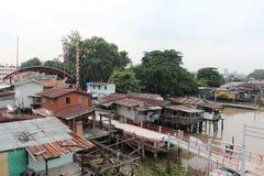 Waterfront houses at Chao Phraya River Royalty Free Stock Photography