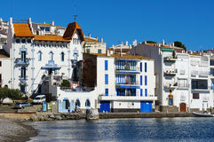 Waterfront houses in a Mediterranean village Royalty Free Stock Photos