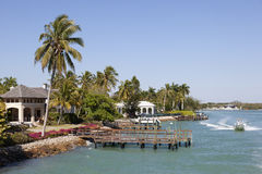 Waterfront houses in Naples, Florida Royalty Free Stock Photo