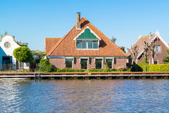 Waterfront houses in North Holland, Netherlands Stock Photography