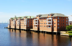 Waterfront Housing Royalty Free Stock Photos