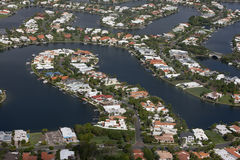 Waterfront housing aerial. Stock Photography