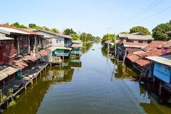 Waterfront in Huatakea floating market Stock Photo