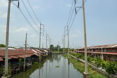Waterfront in Huatakea floating market Royalty Free Stock Photos